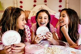 Teen birthday girls love having their friends come to a sleepover party.