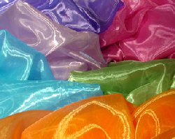 Colorful sheer tablecloths